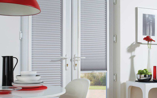 Perfect fit pleated door blinds