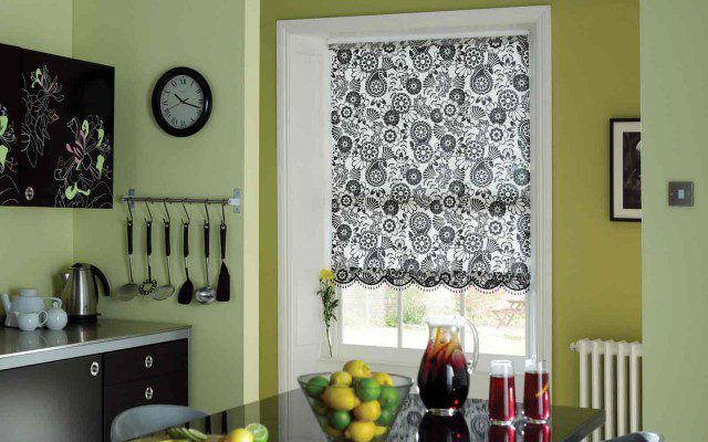 Pattern Roller Blind in a Kitchen