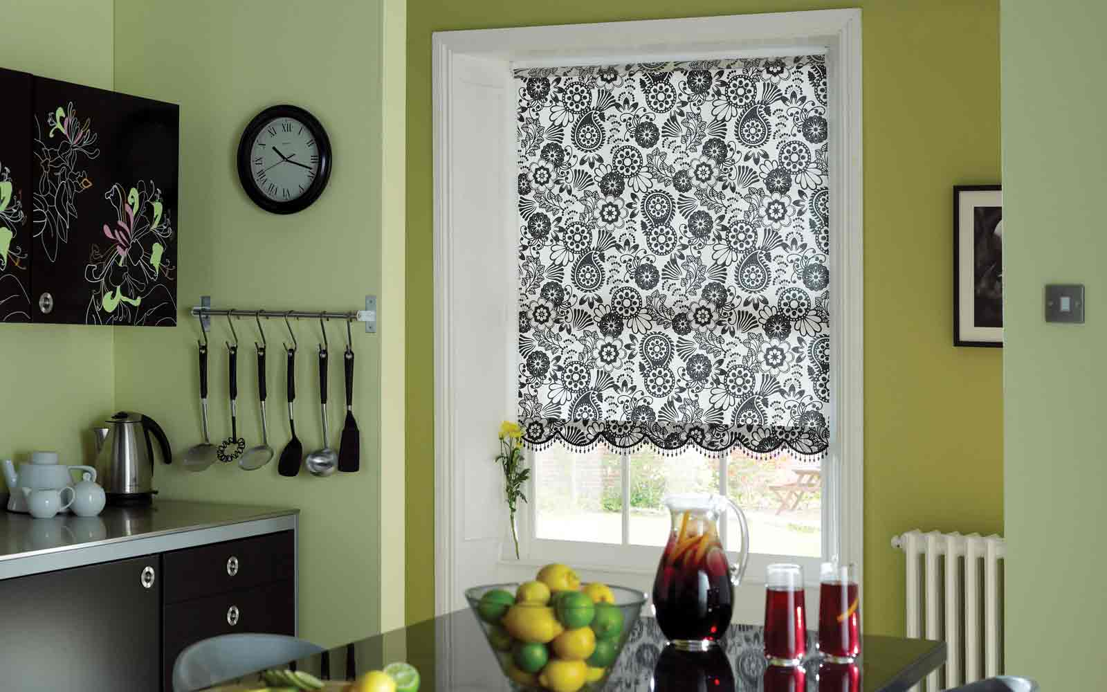 Roller Blind In A Kitchen Surrey Blinds Shutters