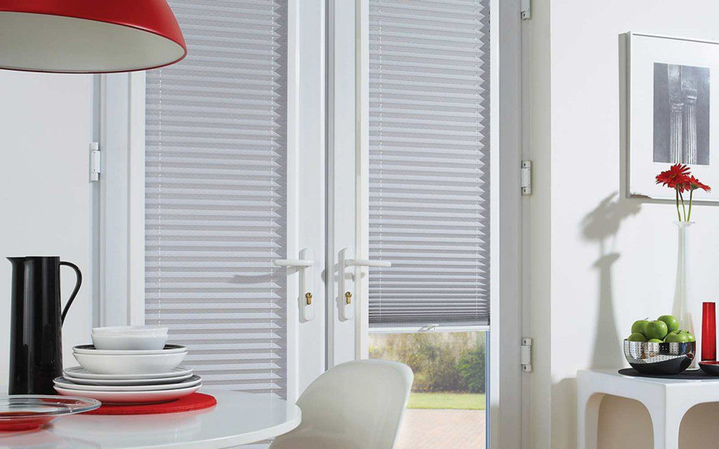 Perfect Fit Pleated Blinds On A Door