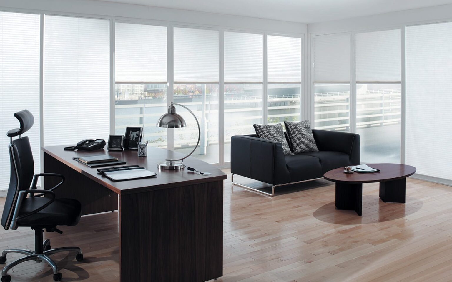 Roller Blinds in an office