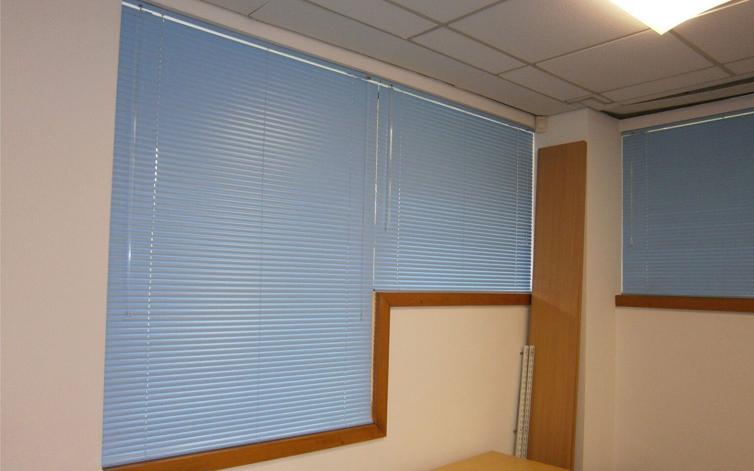 Blue-Aluminium-Venetian-Blinds-Office