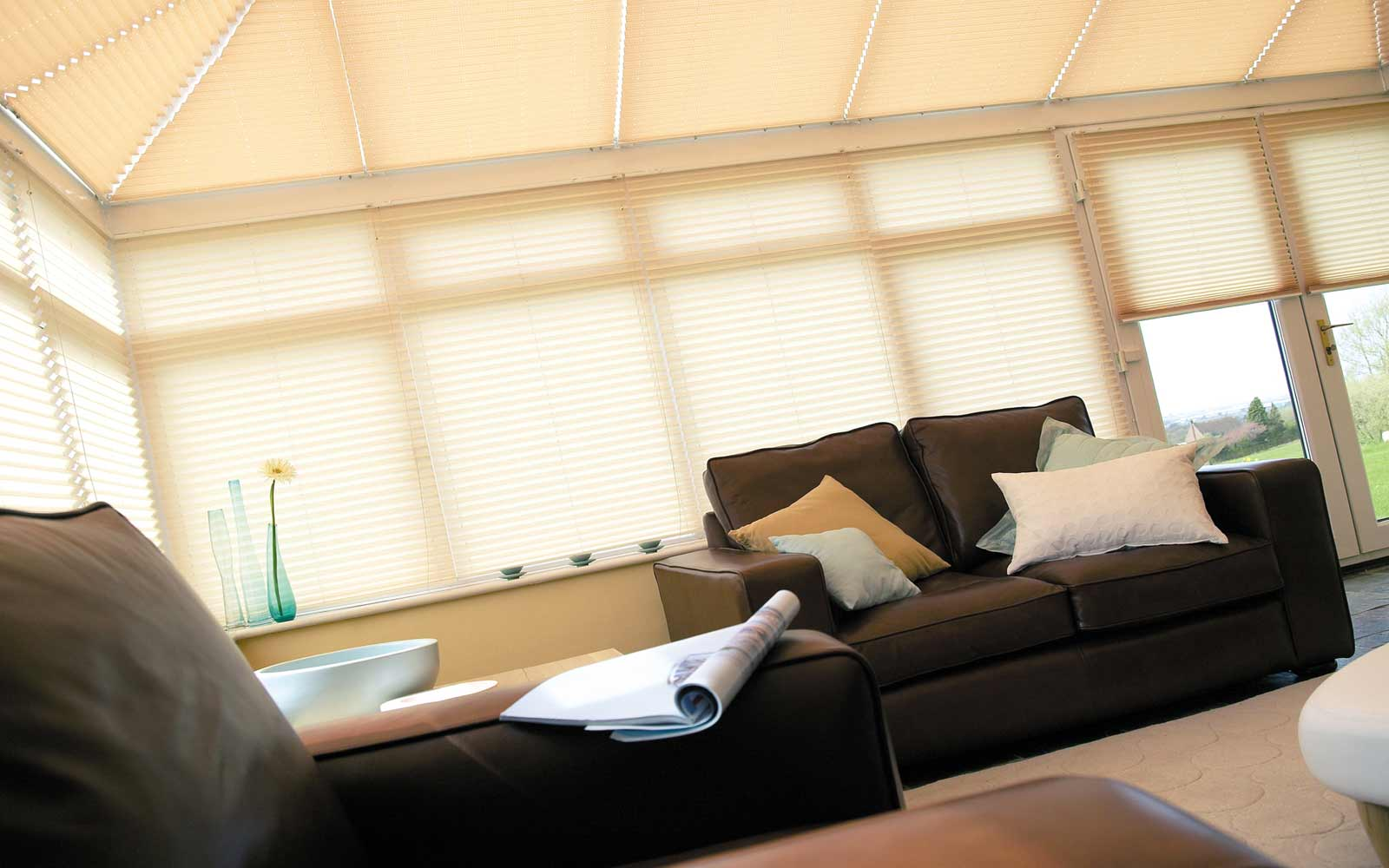 Conservatory-Roller-Pleated-Roof-Blinds