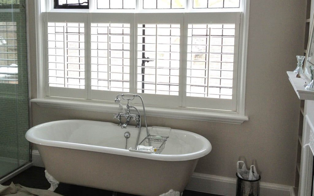 Bathroom blinds surrey blinds shutters for What type of blinds for bathroom