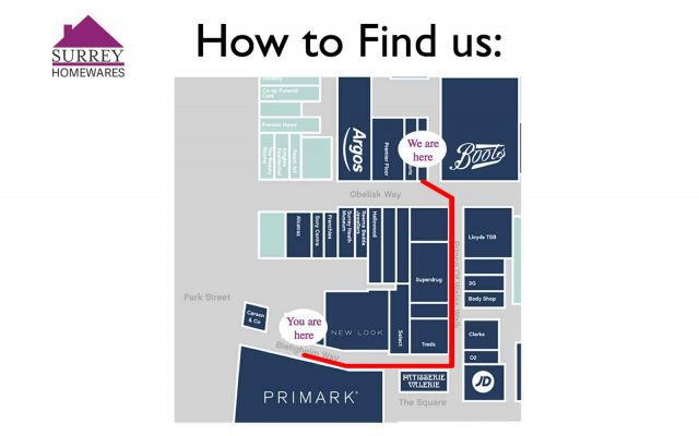How to find us Camberley