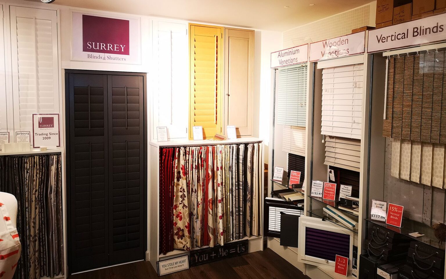 Surrey Blinds Showroom