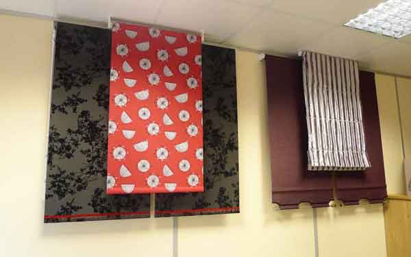 Blinds Showroom Roller Blinds