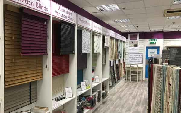 Camberley Blinds Display