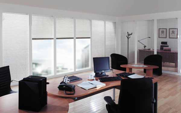 Aluminium Venetians in an office
