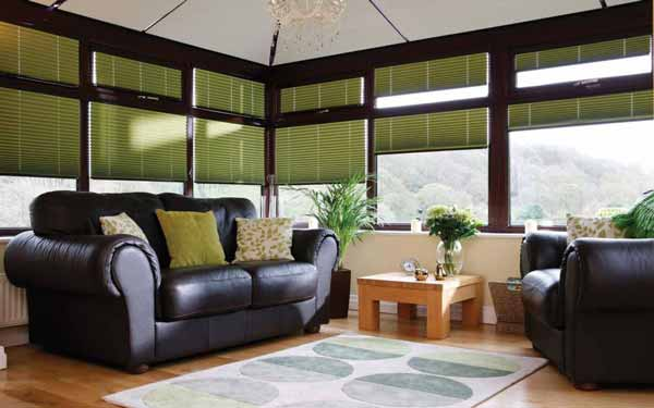 Pleated Blinds In a Conservatory