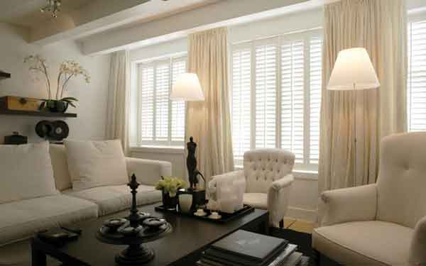 Living Room Plantation Shutters