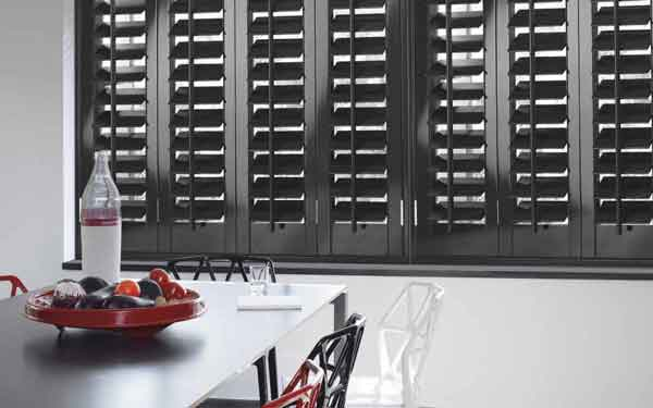Bi-Fold Stained Kitchen Plantation Shutters