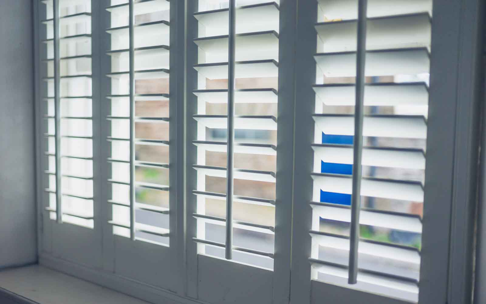 Plantation Shutters with open lourves