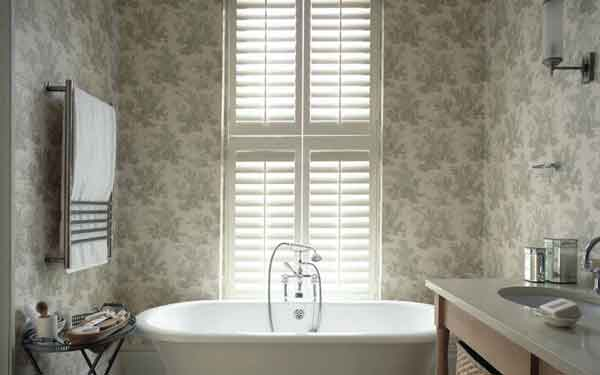 Tier on Tier Bathroom Plantation Shutters