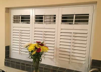Plantation Shutters in a kitchen