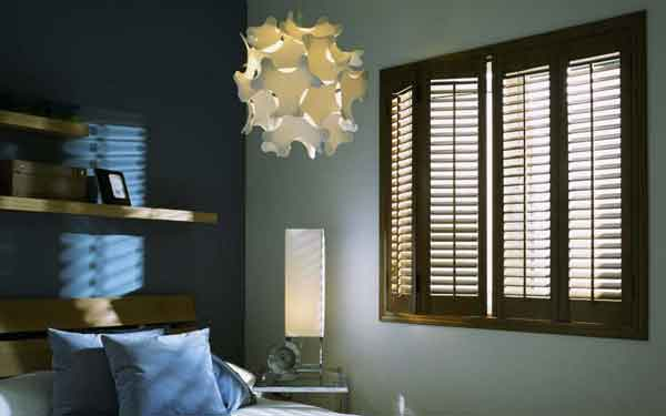 Stained Bi-Fold Plantation Shutters