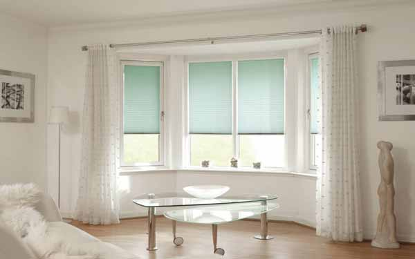Smartrise Bay Window Pleated Blinds