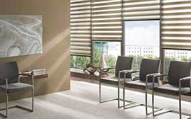 Motorised Duo-Roller Blinds Office