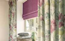Roman and Curtains In A Bedroom
