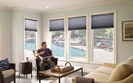 Motorised Remote Pleated Blinds