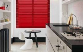 Aluminium Blinds In A Kitchen