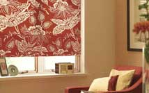 Motorised Patterned Roman Blind