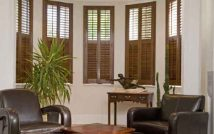 Stained Plantation Shutters