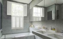 Bathroom Tier on Tier Plantation Shutter