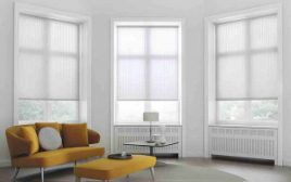 Roller Blinds In A Bay Window